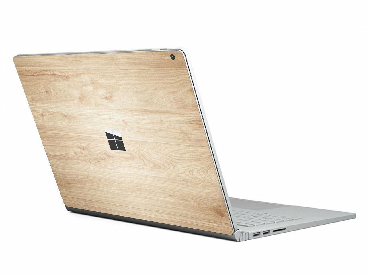 chasbete surface book decal skin wood grain protective vinyl sticker