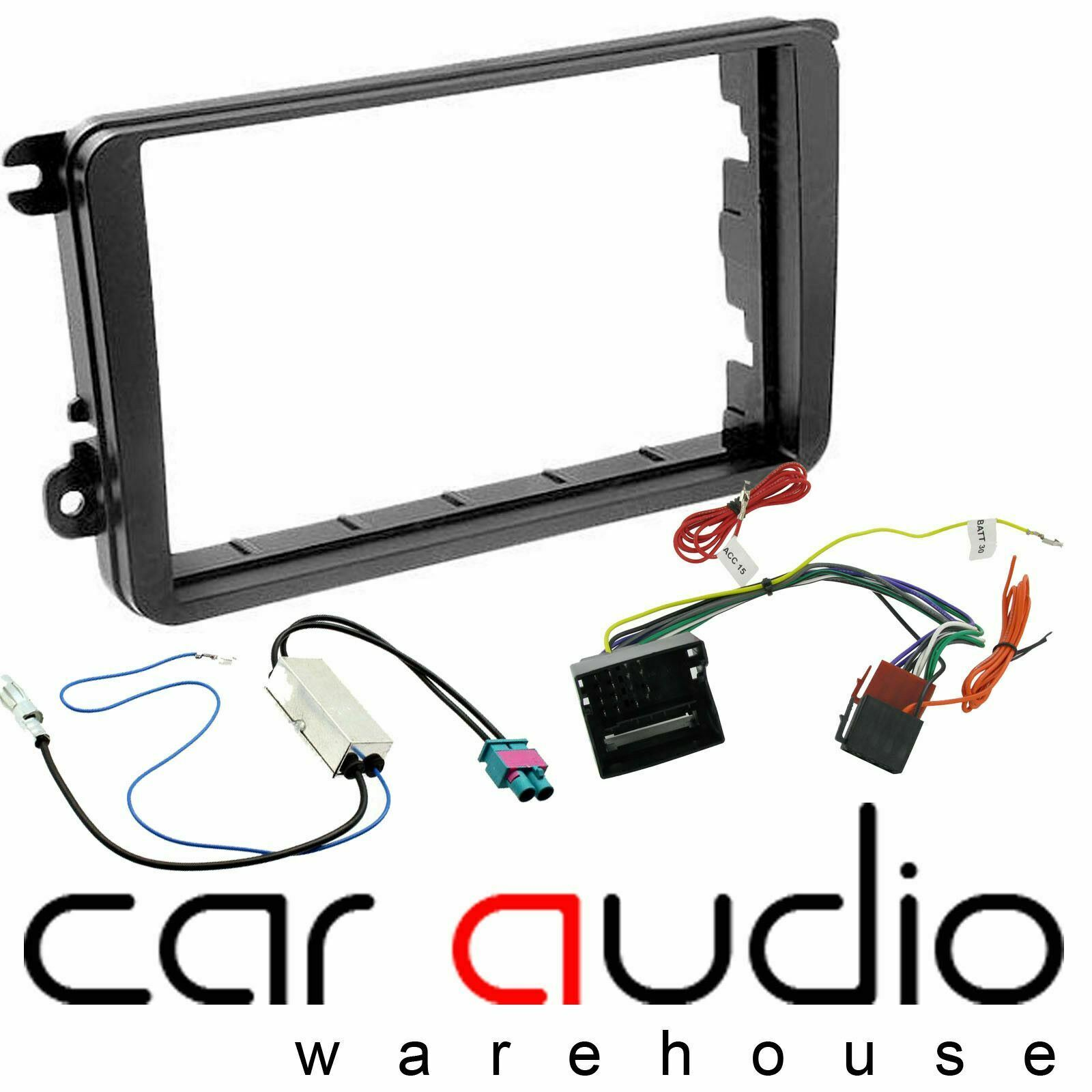 Seat Leon Mk2 Facelift Car Stereo Double Din Fascia Panel Wiring Audio 1 Of 2free Shipping