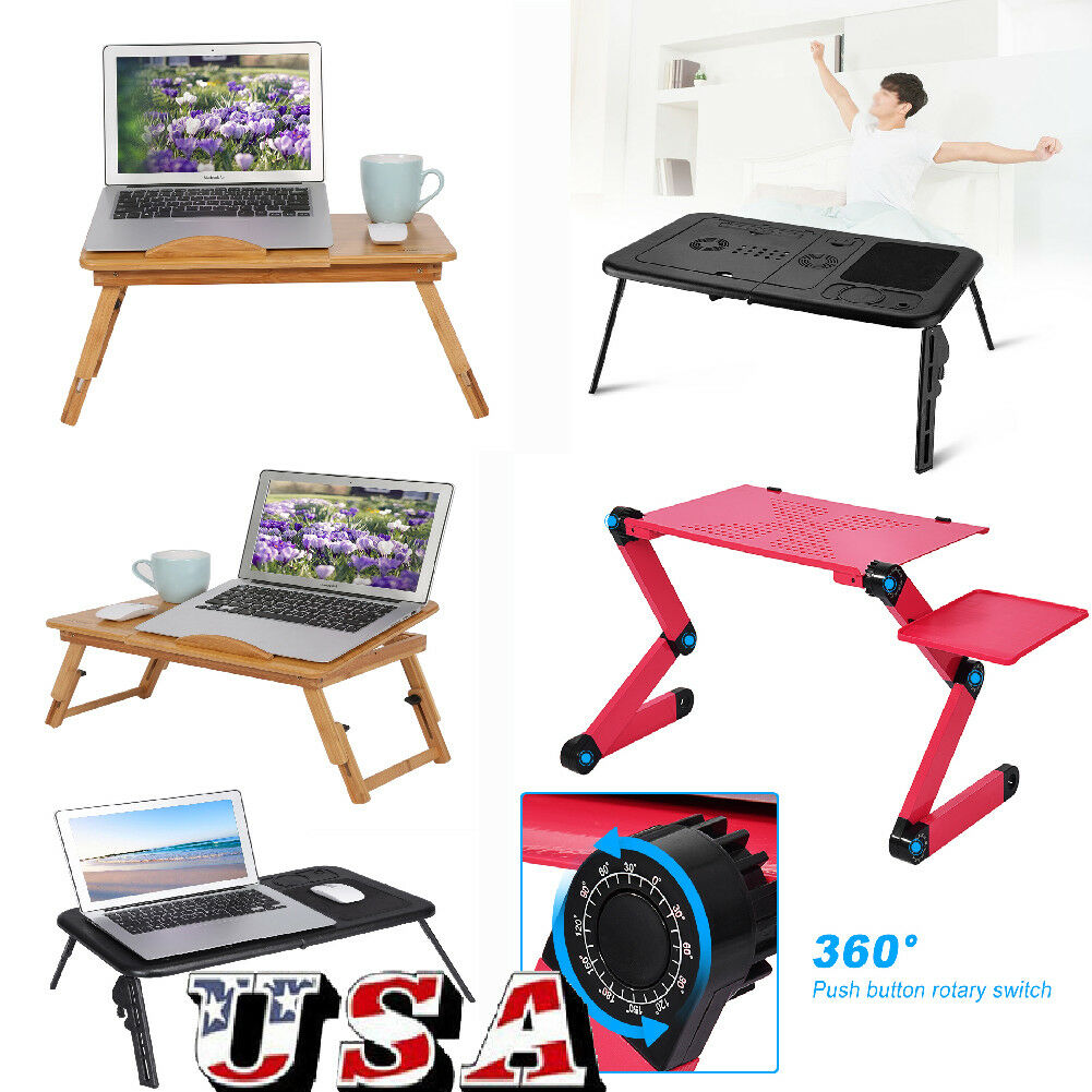 360 Degree Portable Laptop Desk Lap Table Bed Pad Tray Notebook Computer Stand 1 Of 12free See More