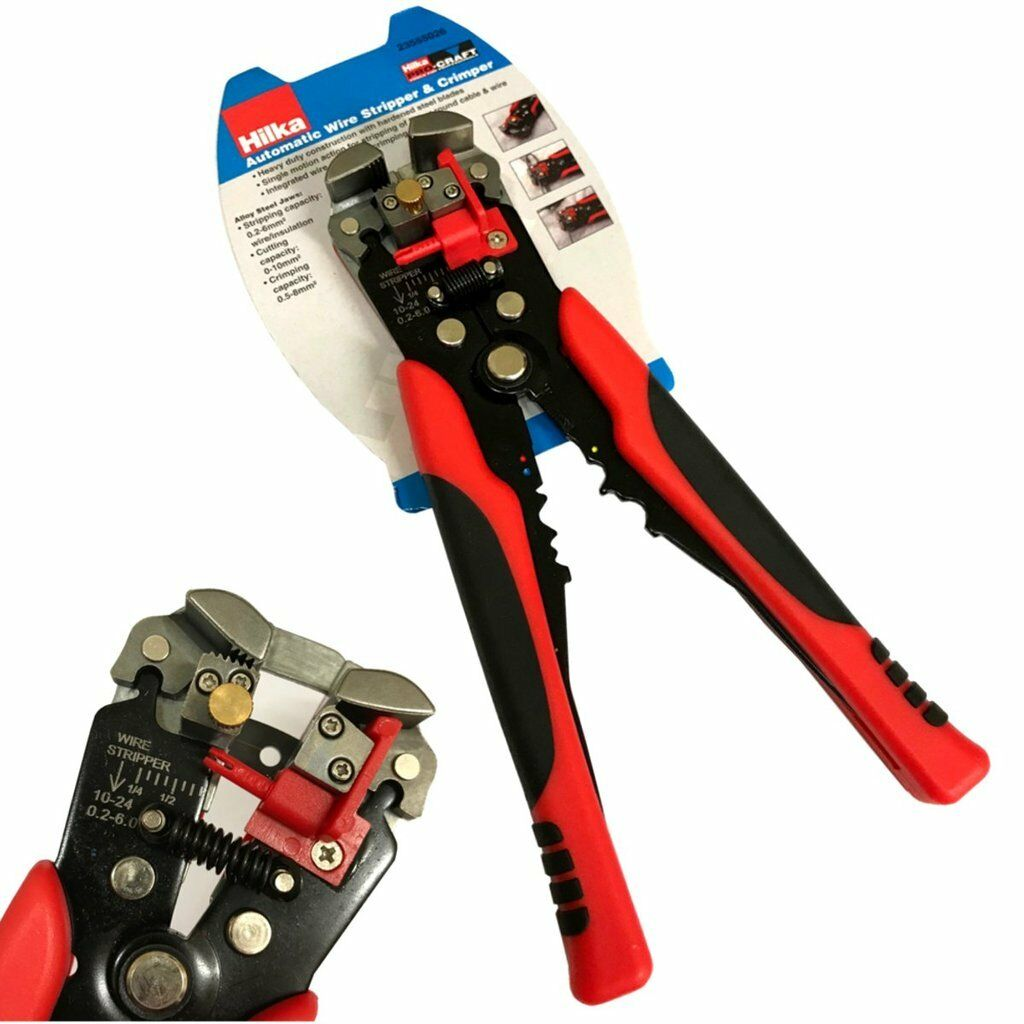 HILKA PRO-CRAFT HEAVY Duty Automatic Wire Stripping Pliers - Crimper ...