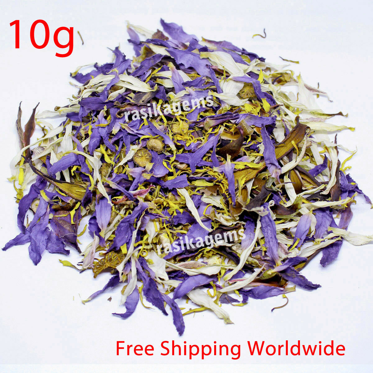 Blue Lotus Flowers Sacred Lily Nymphaea Caerulea White Lily Herbal