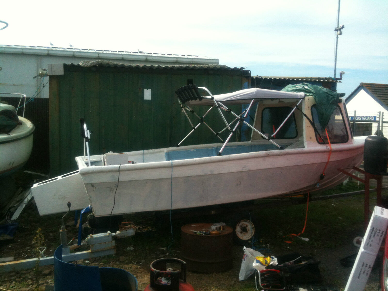 16 foot fishing boat with 25hp outboard pod and cudy for 16 ft fishing boat
