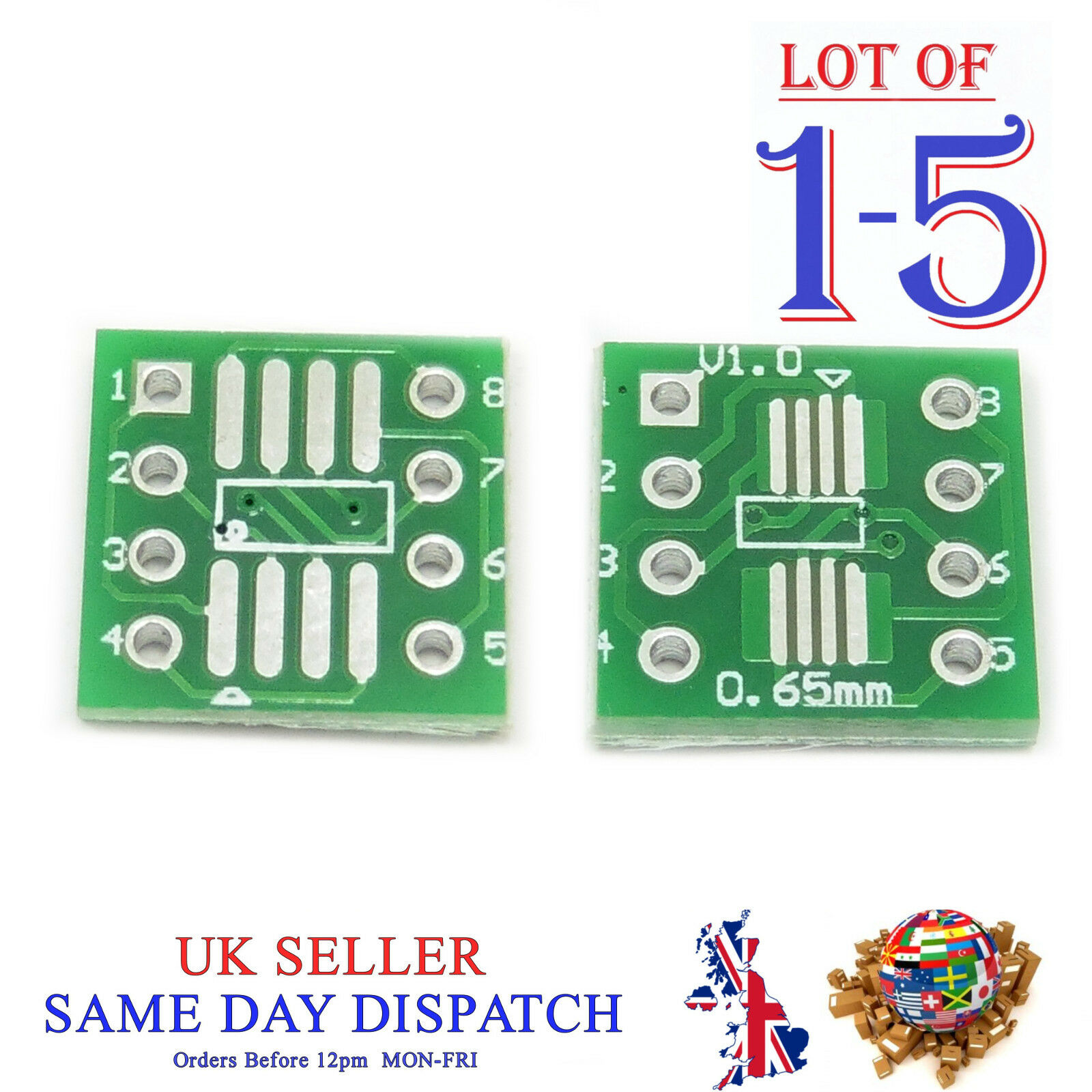 Pcb Sop8 So8 Soic8 Tssop8 Msop8 To Dip8 Converter Board Smd Adapter 3m Small Outline Integrated Circuit Test Clips Sotc8 1 Of 3free Shipping