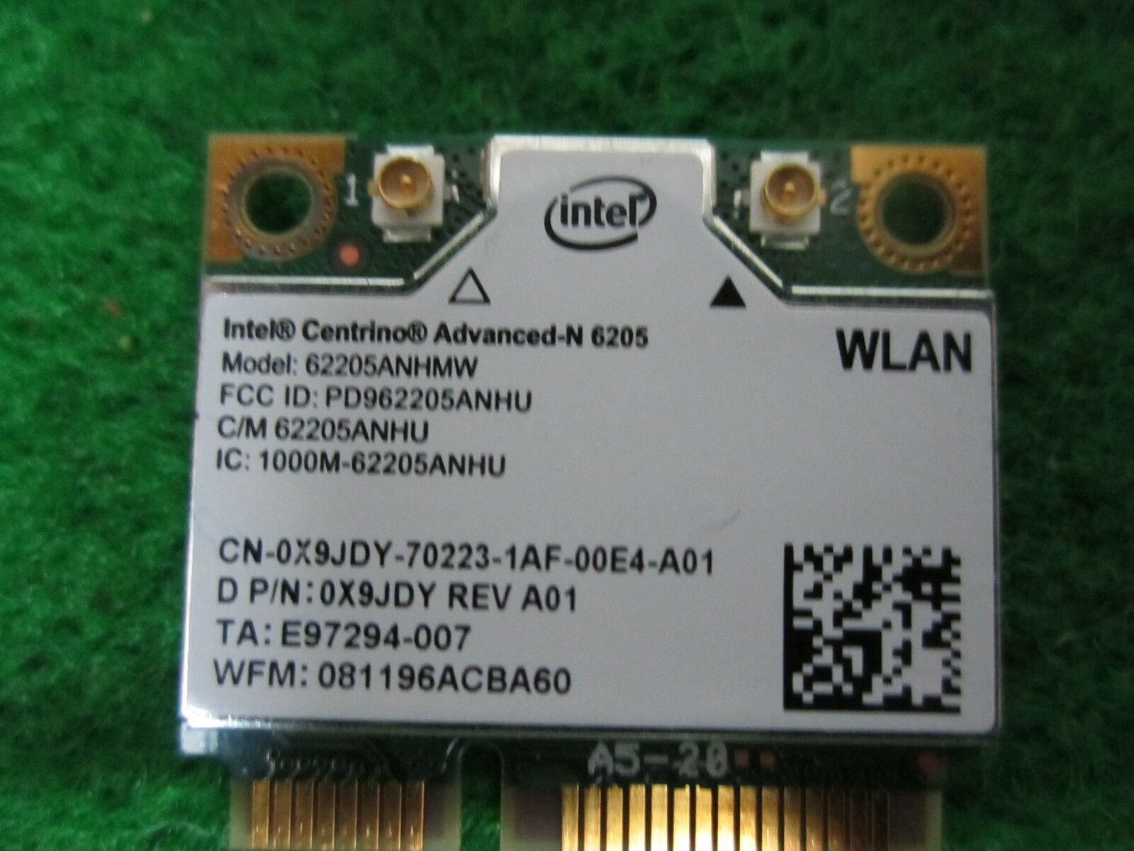 Dell Latitude E6330 Intel Centrino Advanced N 6205 Wireless Wlan Wire Puter Fan Wiring Diagram Also Network Card 1 Of 2only 4 Available