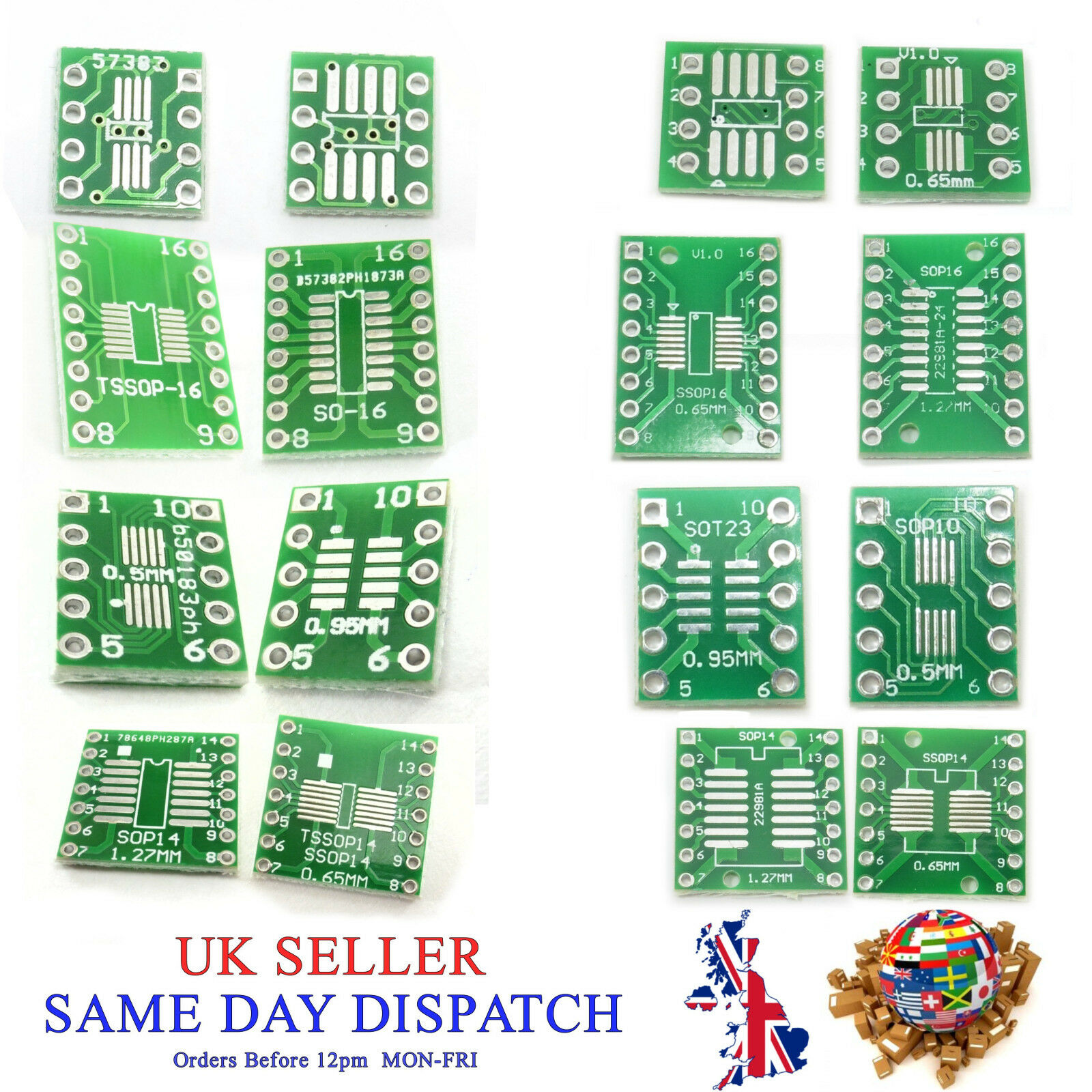 Pcb Sop So Tssop Msop Sot Qfp Tqfp Lqfp To Dip Converter Board Pin Small Outline Integrated Circuit Soic And Plate Adapter 1 Of 1free Shipping