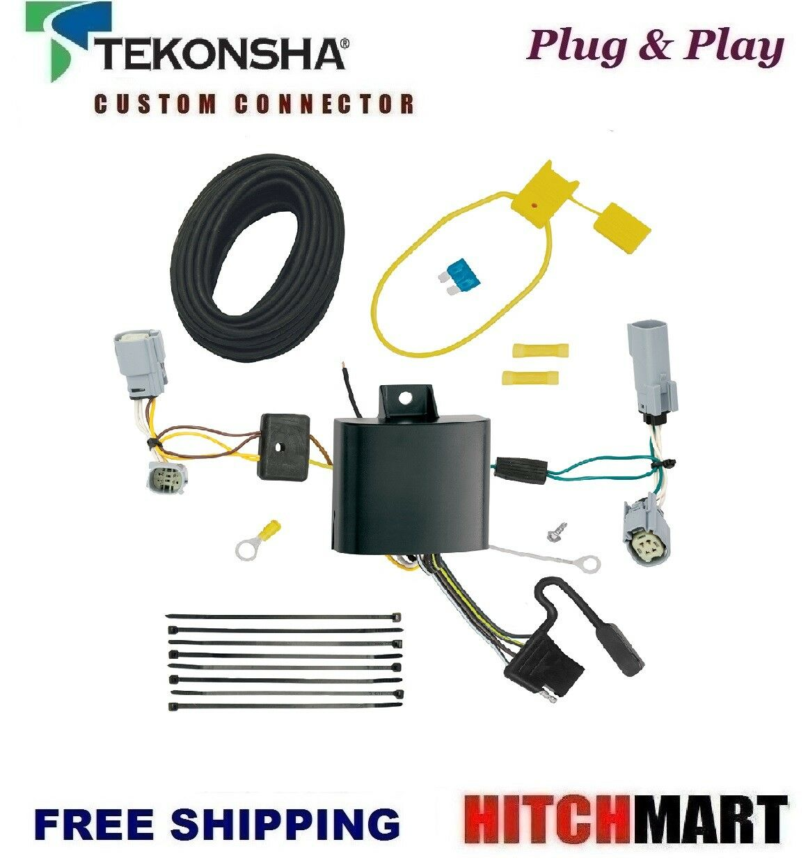 Fits 2017 2018 Chrysler Pacifica Lx Touring Trailer Hitch Tow Wiring Harness 1 Of 1free Shipping