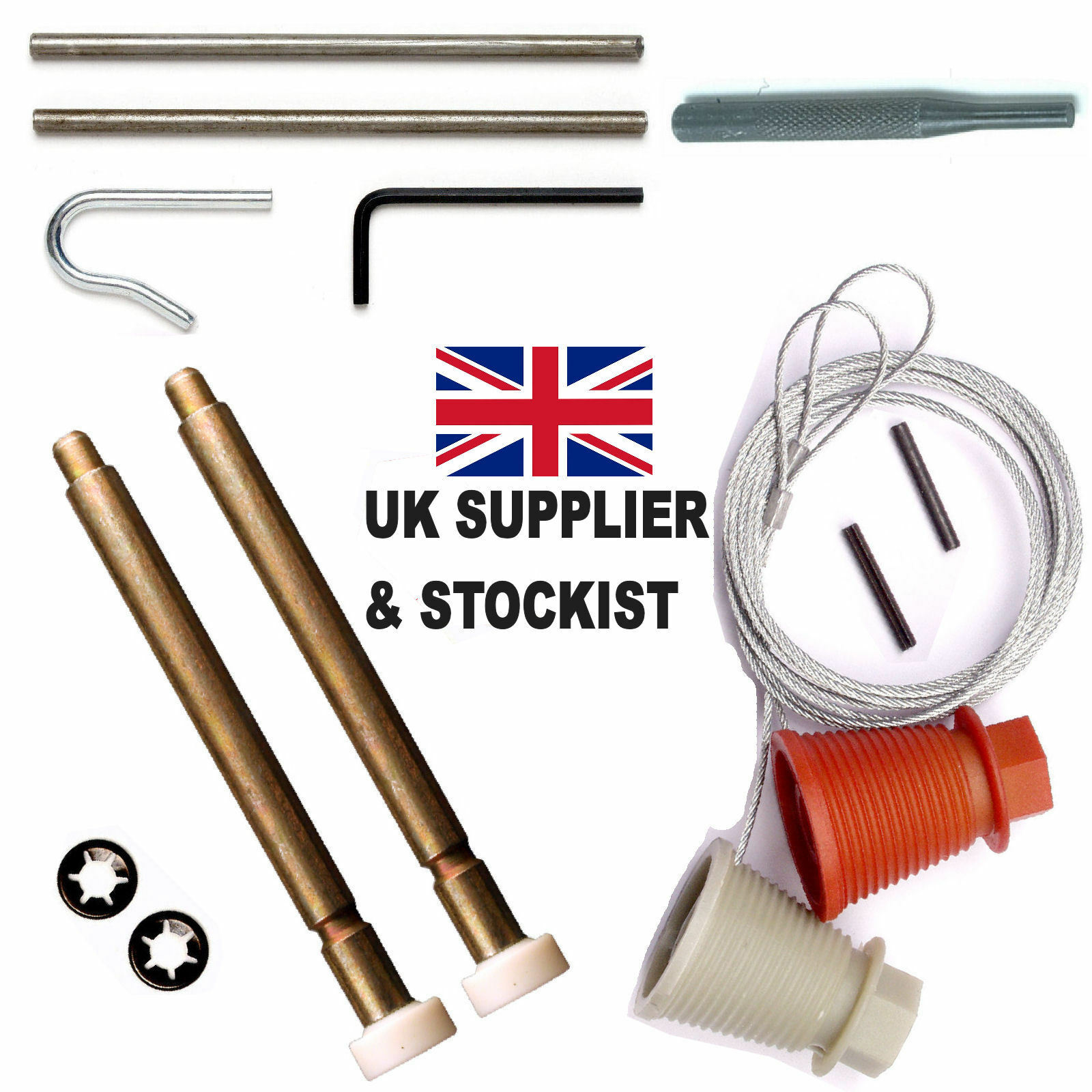 CD45 CARDALE WICKES Spares Cones & Cables Roller Spindles Repair Kit ...
