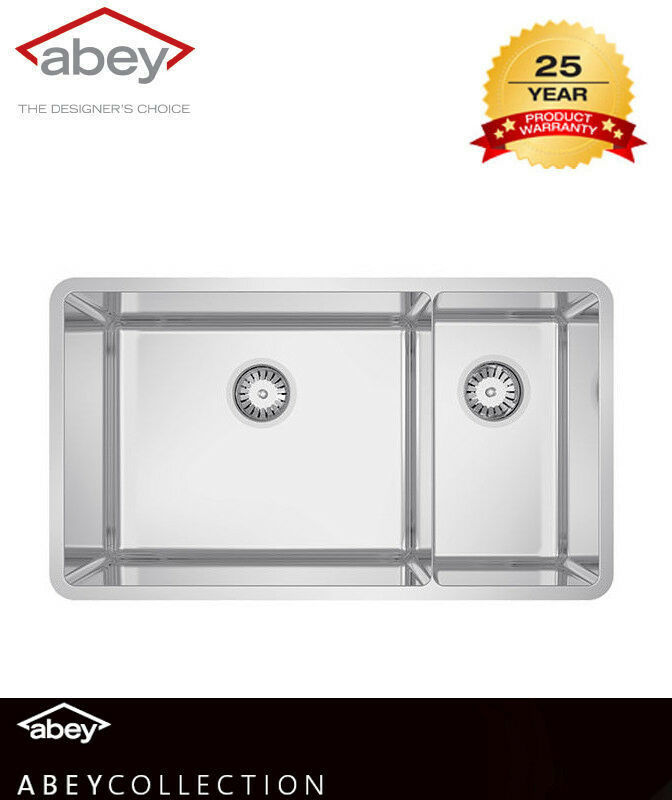 ABEY LUCIA BOWL & THREE QUARTER Kitchen SINK Includes Designer Waste ...