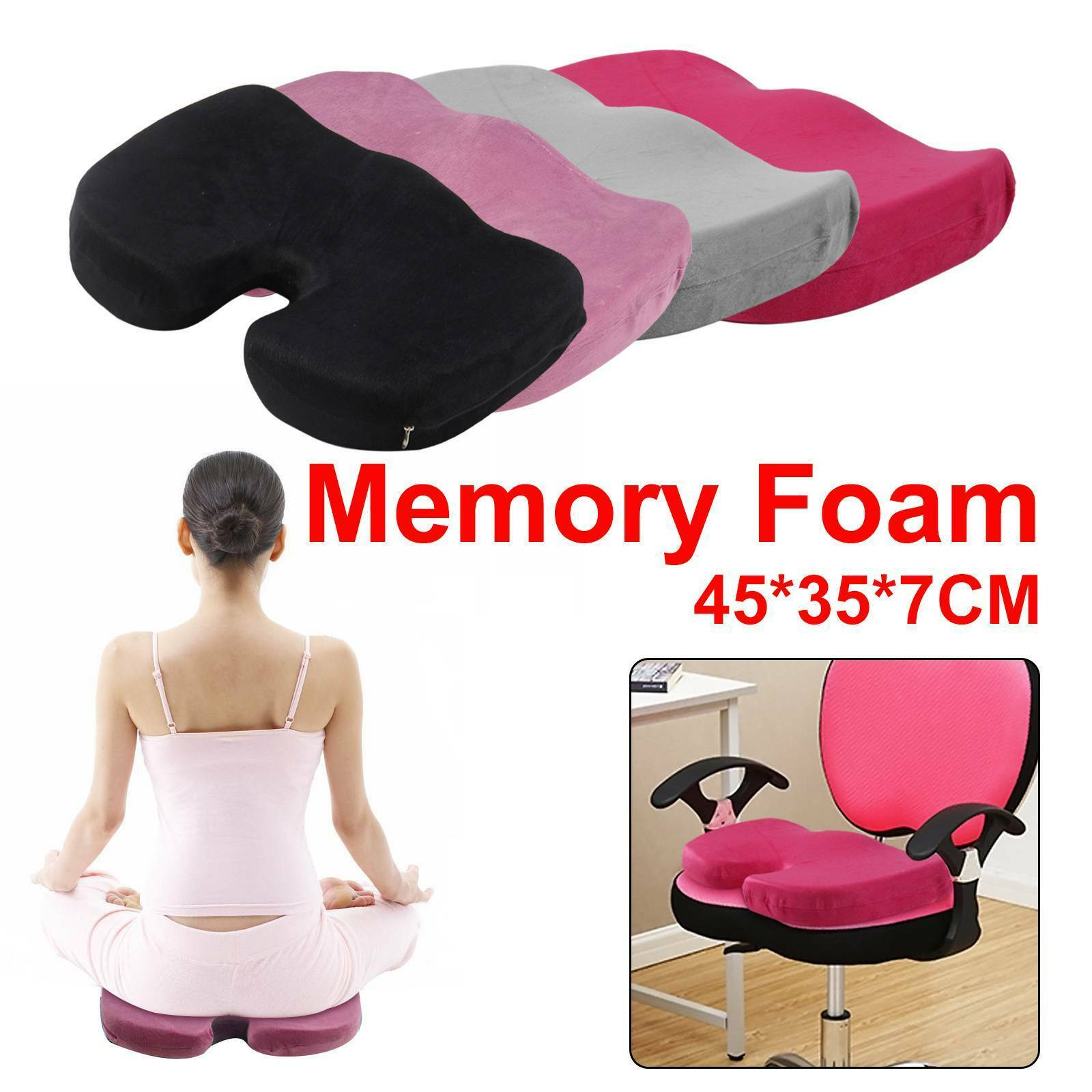 Memory Foam Seat Cushion Back Pain Relief Orthopedic Pillow Office Chair Coccyx 1 Of 11free Shipping See More