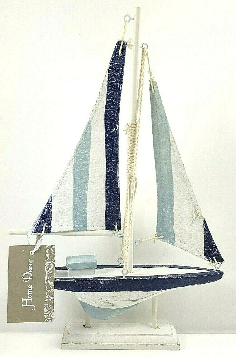 LY BLUE AND White Canvas Sail Boat Nautical Beach Bathroom ... Boat Ornaments For Bathroom on decks for boats, toilets for boats, wiring for boats, kitchen cabinets for boats, carpet for boats, sump pumps for boats, beds for boats, bedding for boats, lighting for boats, grab rails for boats, furniture for boats, windows for boats, steps for boats, upholstery for boats, doors for boats, boilers for boats, carports for boats, solar panels for boats, grills for boats, sinks for boats,
