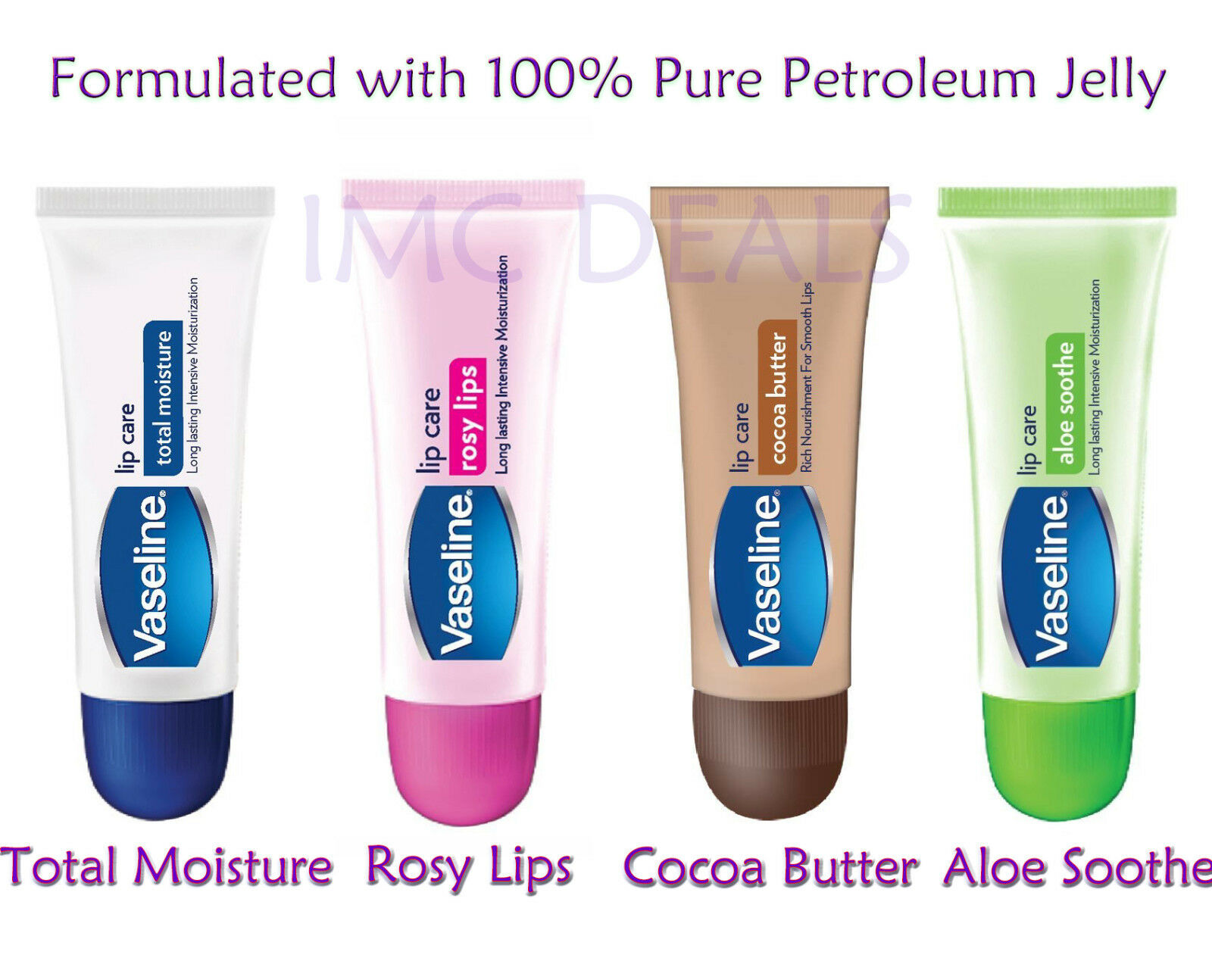 Vaseline Intensive Moisturization 100 Pure Petroleum Jelly Lip Care Therapy Rosy 20g Original Balm 1 Of 1free Shipping