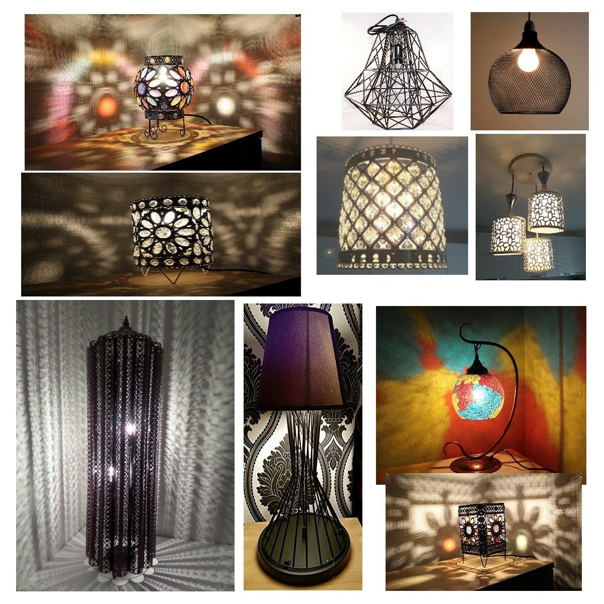 Bargain Corner Inspired Styles Exclusive Moroccan Turkish Table Lamp Ceiling 1 Of 1free