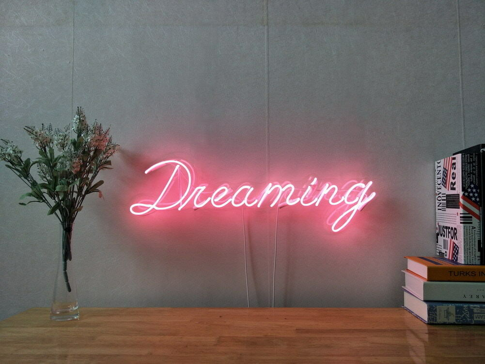 New Dreaming Neon Sign For Bedroom Wall Art Home Decor Artwork With