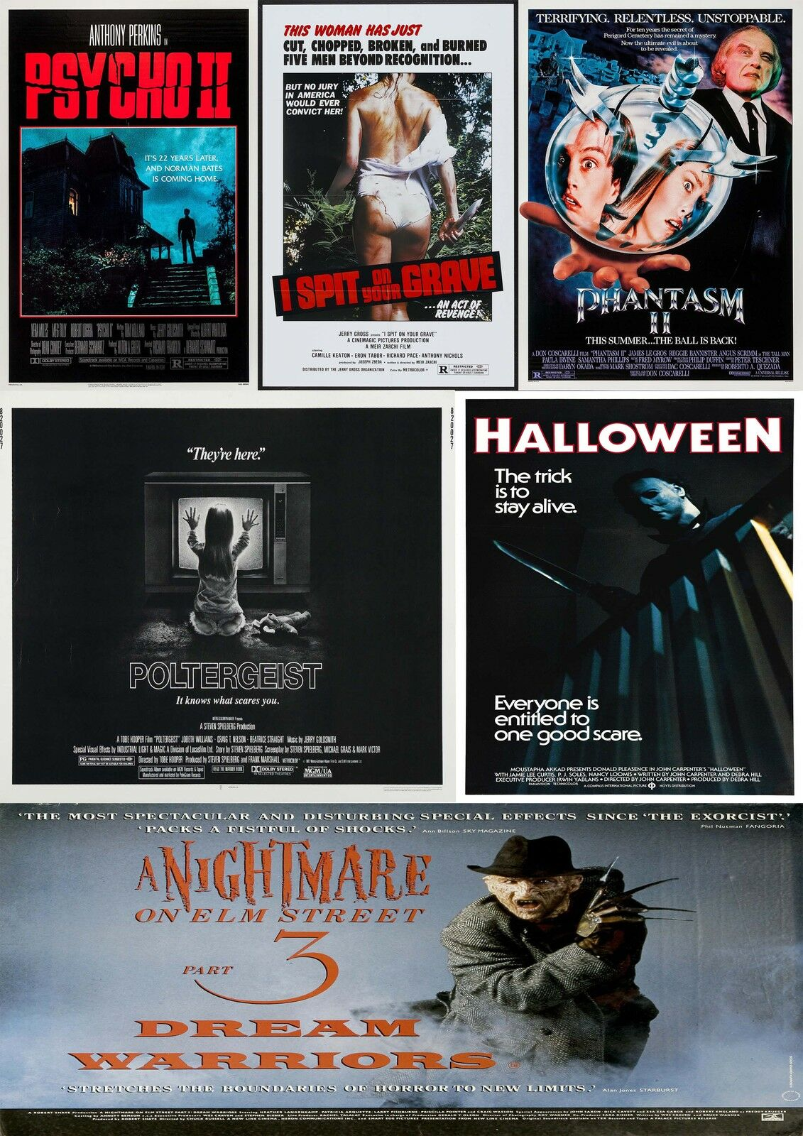 HORROR MOVIE Poster Collection 2/Wall Art:Laminated:A4 ...