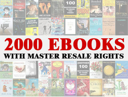 2000 Ebooks Zip File Pdf Word Format With Master Resell Rights Or