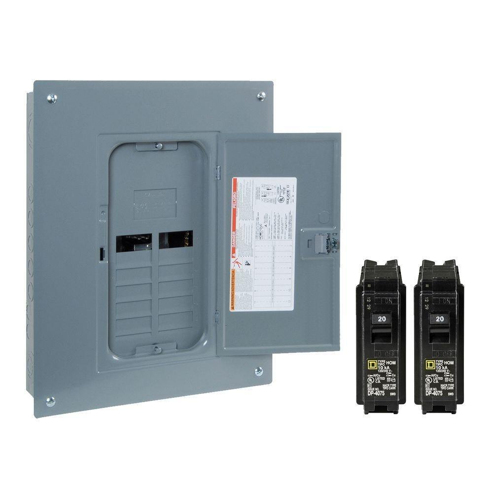 New Square D 125 Amp 12 Space 24 Circuit Indoor Home Main Breaker Breakers The Homelinetm Dual Function 1 Of 6only 0 Available