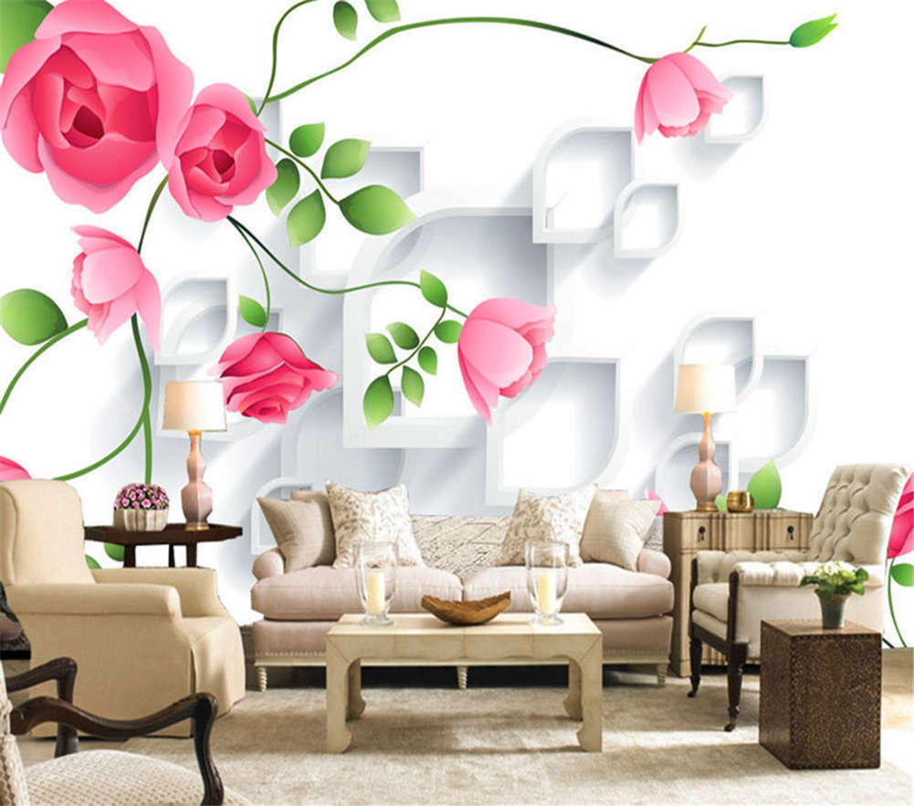 The Chinese Rose Pink 3d Full Wall Mural Photo Wallpaper Print Home