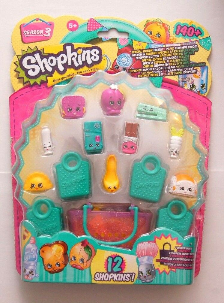 SHOPKINS 12 Figuren Pack Spielfiguren Set Season 3 NEU - EUR 27,99 ...