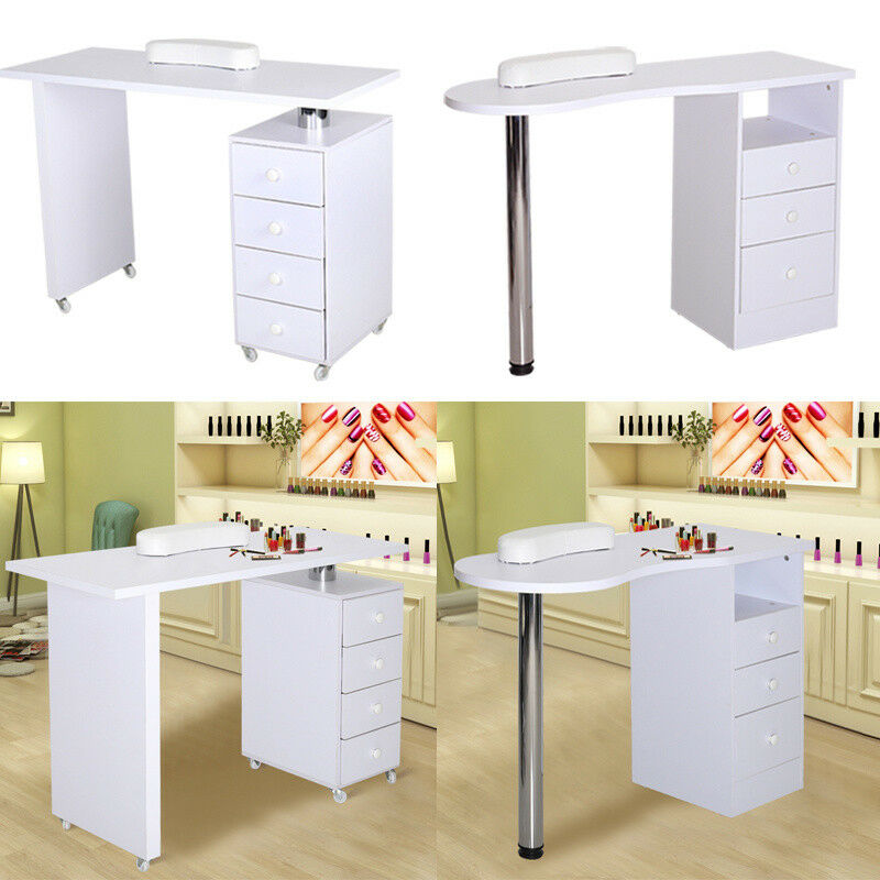 Manicure Nail Bar With Drawers Art Salon Storage Table