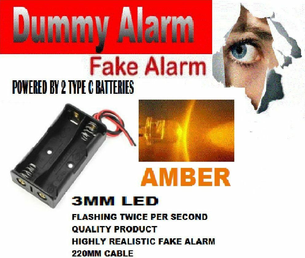 Dummy Bell Alarm Box Flashing Led Fake Shed Amber Wiring Adt 1 Of 1free Shipping See More