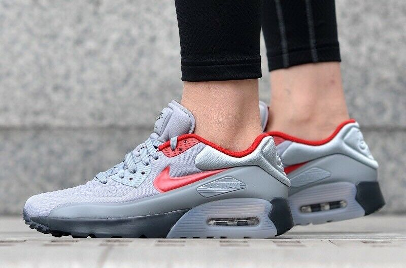 size 40 7481e c6011 NIKE AIR MAX 90 Ultra Se GS Youth 844599-007 Grey Red UK 5 EU 38 US 5.5Y New  - EUR 86,92   PicClick FR
