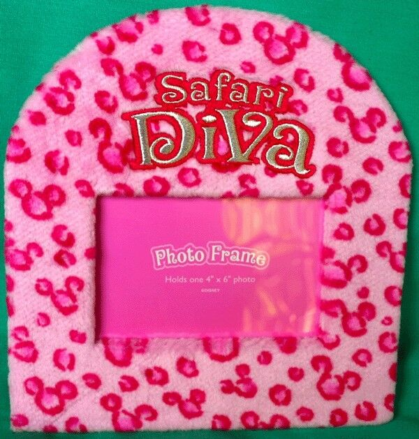 Disney Park Safari Diva Photo Frame Hidden Mickey Tabletop Frame