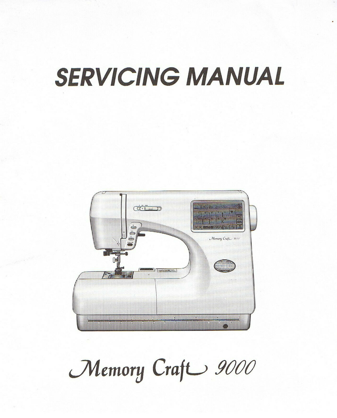Janome Memory Craft 9000 Sewing Machine Service Repair Manual + Parts List  1 of 1Only 5 available ...