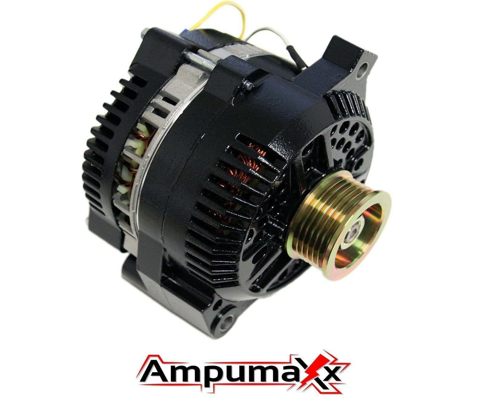 Black One Wire 250 Amp Alternator For Ford Mustang Mercury Cougar Hi Gm 160 Wiring 1 Of 5free Shipping