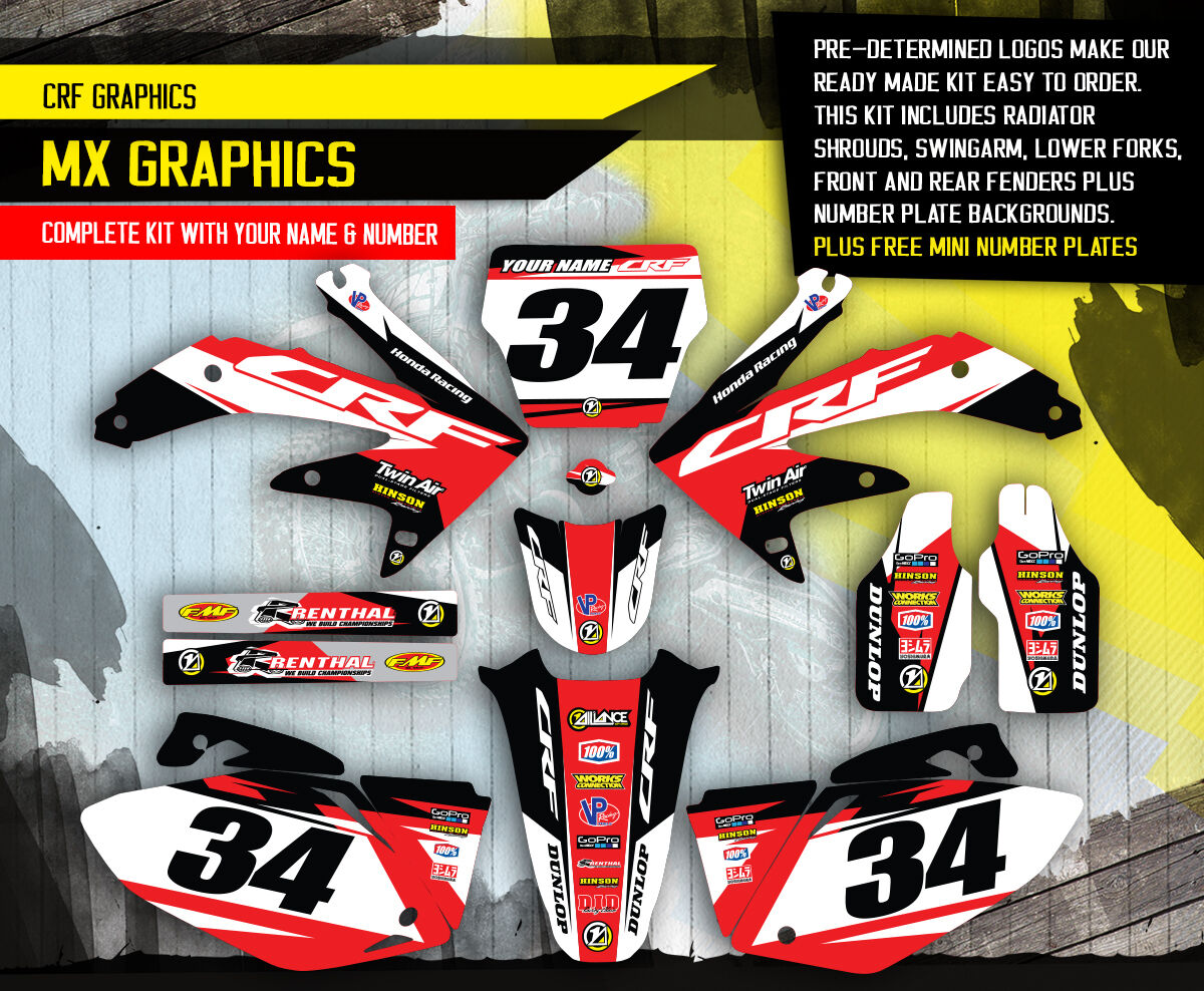 2008 Honda Crf 450 R Dirt Bike Graphics Kit Crf450r Motocross Mx Pink Decals 1 Of 4only 4 Available