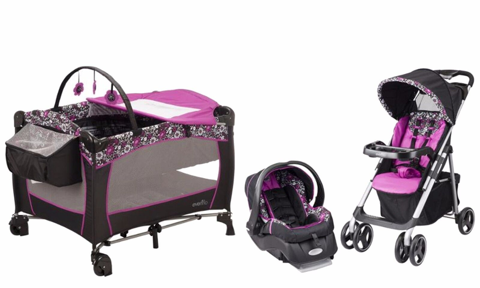 Evenflo Baby Stroller Car Seat Infant Playard Travel System Combo Set 1 Of 11Only 0 Available