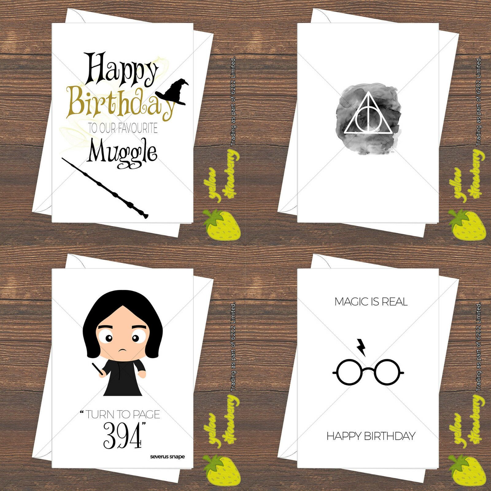 HARRY POTTER BIRTHDAY Greetings Christmas Card Hogwarts Muggle Magic ...