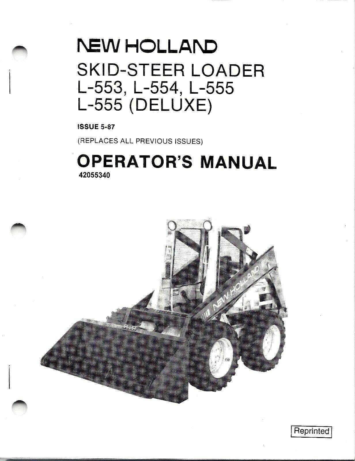 New Holland L553 L554 L555 Skid Loader Operator's Manual 42055340 1 of  1Only 2 available ...