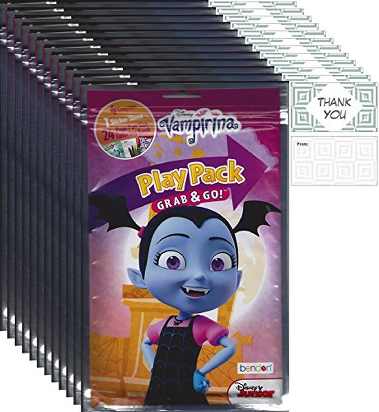 Bendon Publishing Disney Junior Vampirina Party Favors 12 Play