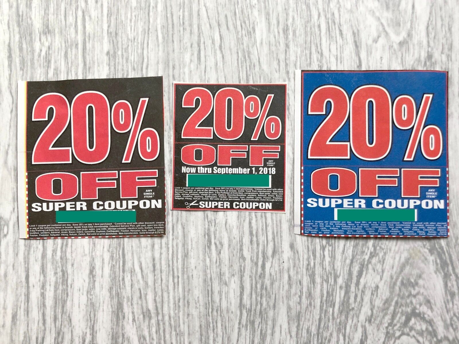 3 Harbor Freight Super Coupons 20 Off Any Item Home Depot 1 Of 1free Shipping See More