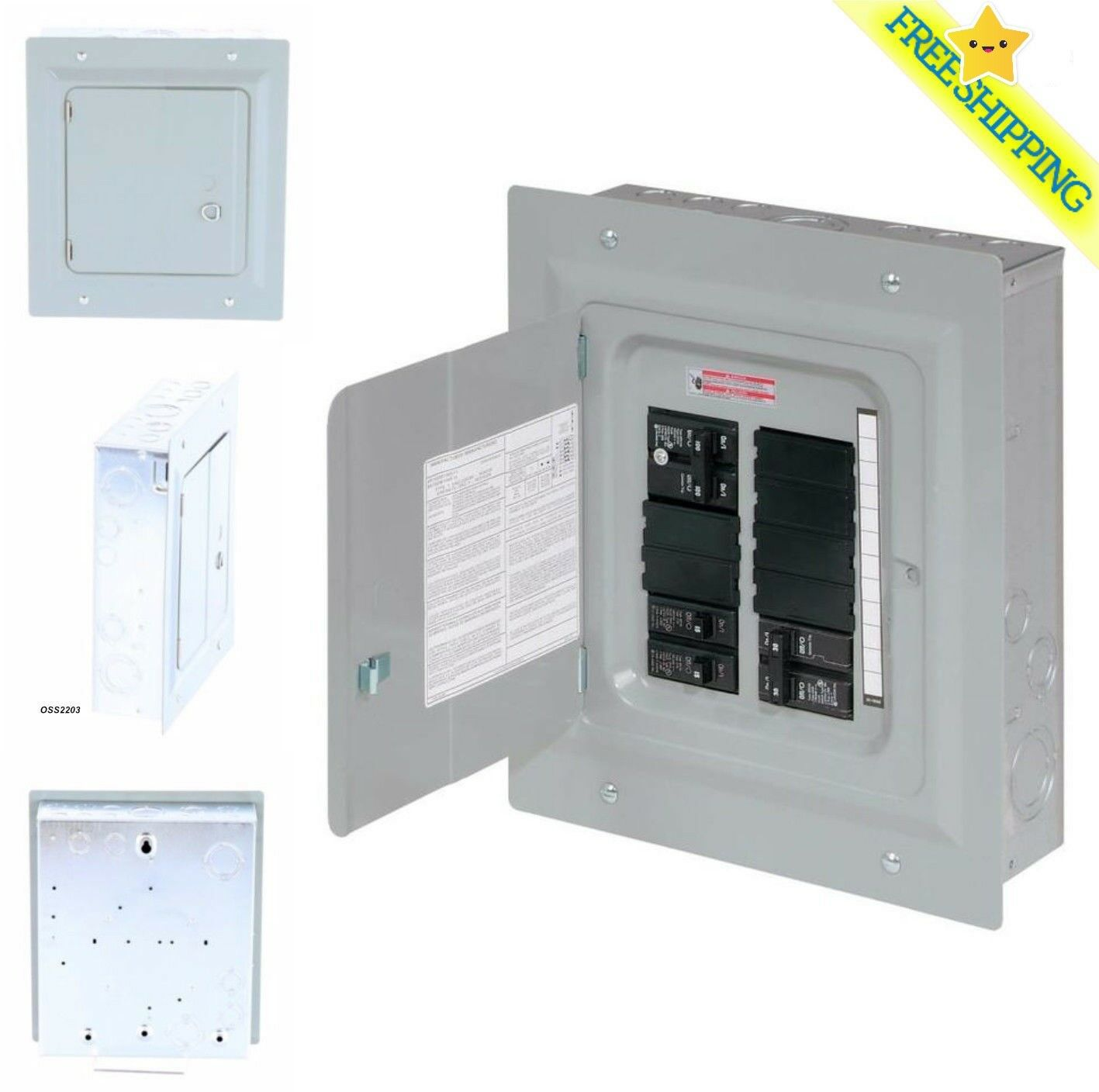 Eaton 100 Amp 10 Spc 20 Circuit Garage Home Indoor Small Main Challenger Fuse Box 1 Of 5free Shipping