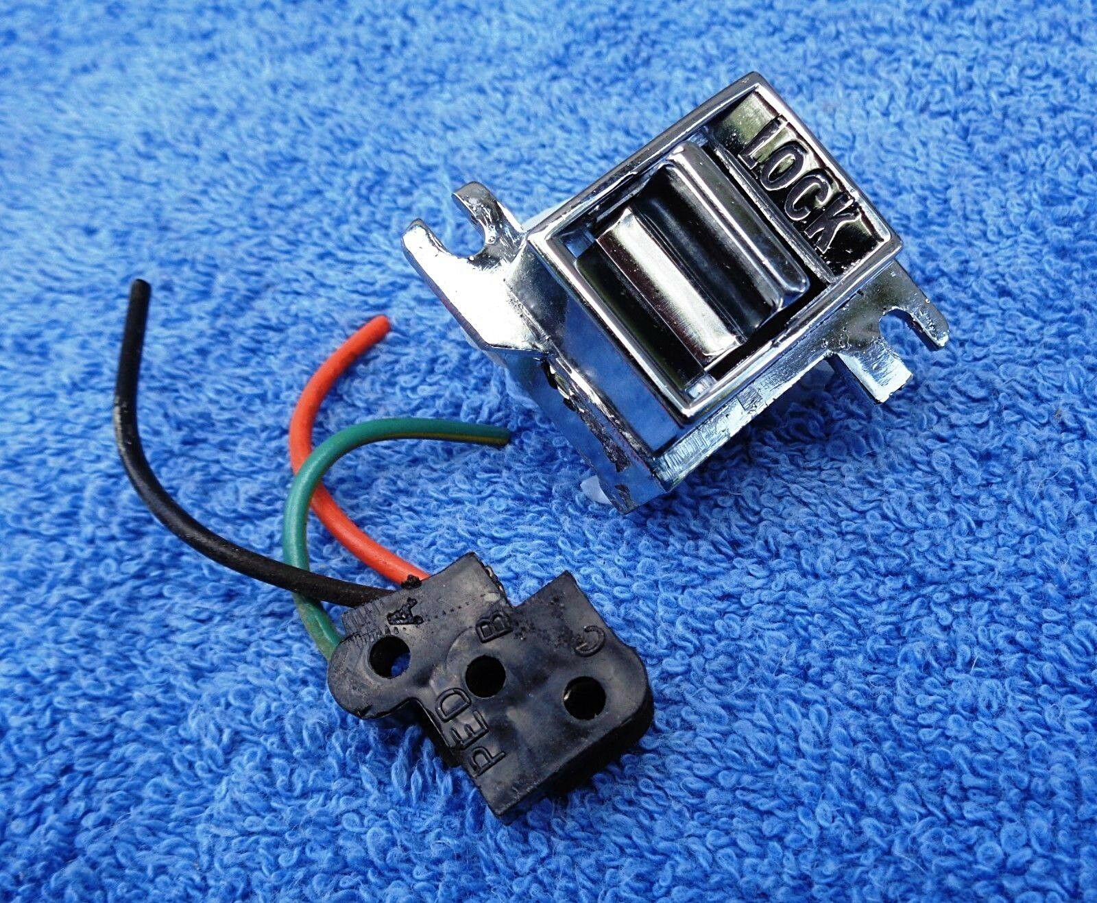 Original Vintage 60s 70s Gm Models Power Electric Lock 3 Pin Wiring 1960 C10 Harness 1 Of 4only Available