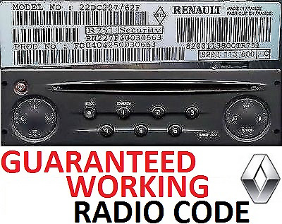 renault master trafic scenic clio megane radio code unlock perfect working codes eur 1 15. Black Bedroom Furniture Sets. Home Design Ideas