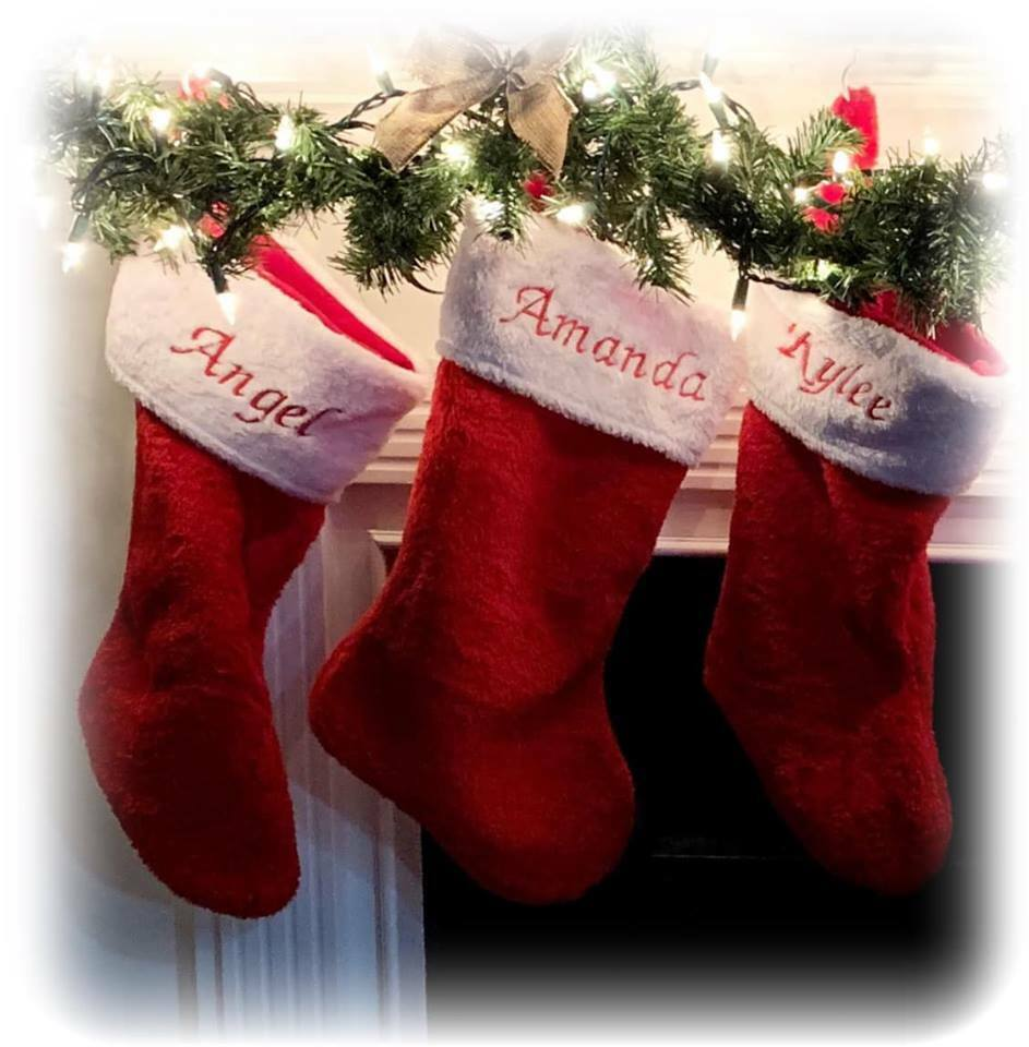 Personalized Christmas Stocking Monogrammed Plush Red 1 Of 12 See More