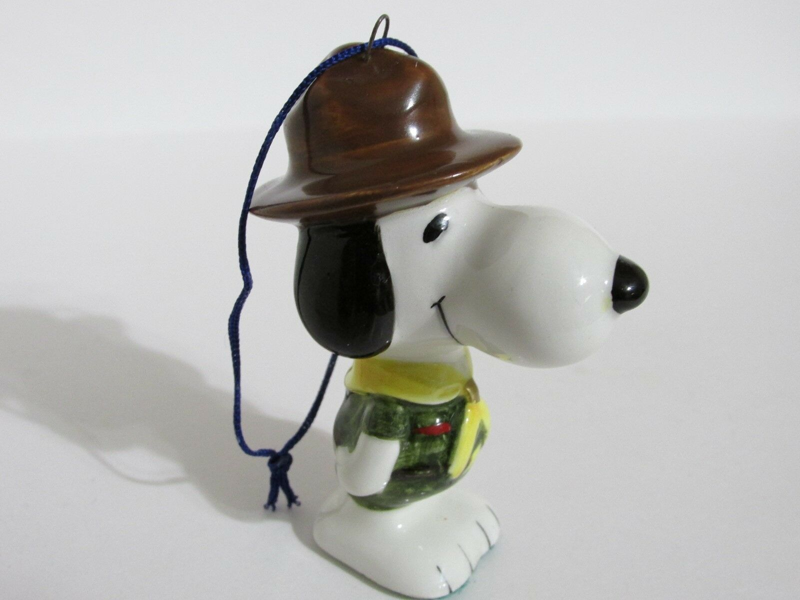 SNOOPY PEANUTS CHARLIE Brown Determined Rare Ceramic Christmas ...