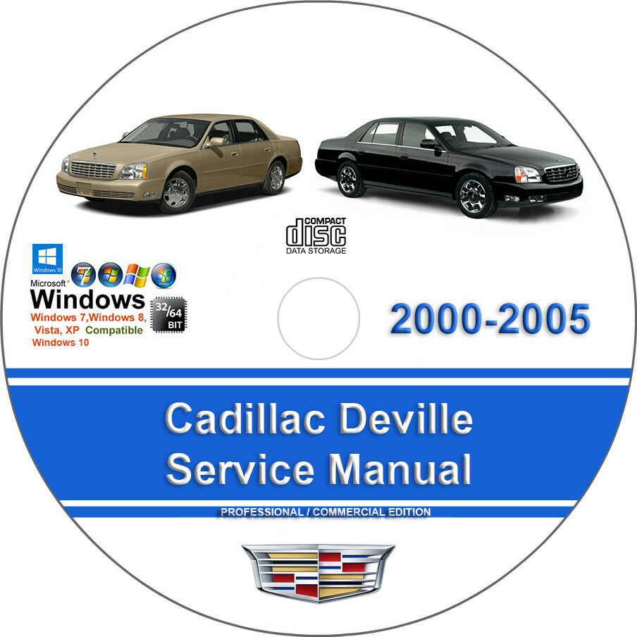Cadillac Deville 2000 2001 2002 2003 2004 2005 Factory Service Repair Manual  1 of 1FREE Shipping ...