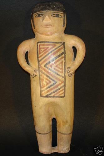 Large Ancient Pre-Columbian Nazca Pottery Doll Antique