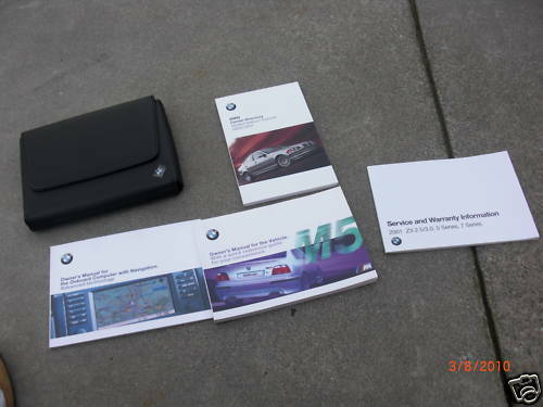 2001 bmw e39 oem m5 owner s manual case navigation l k 150 00 rh picclick com bmw e39 520i user manual pdf bmw e39 owners manual free download