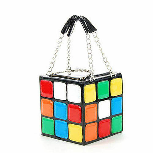 Women's Present,Cute Magic Cube Bag Handbag Purse A17