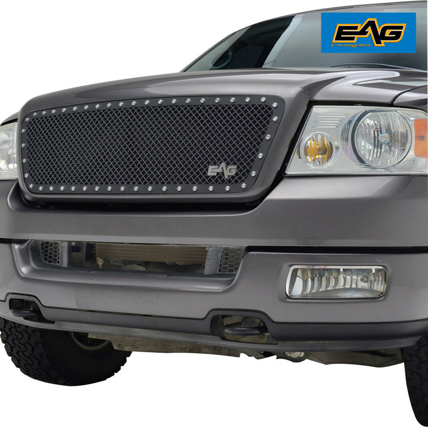 04 08 ford f150 grill black stainless steel mesh rivet grille grill insert 1 of 8free shipping see more