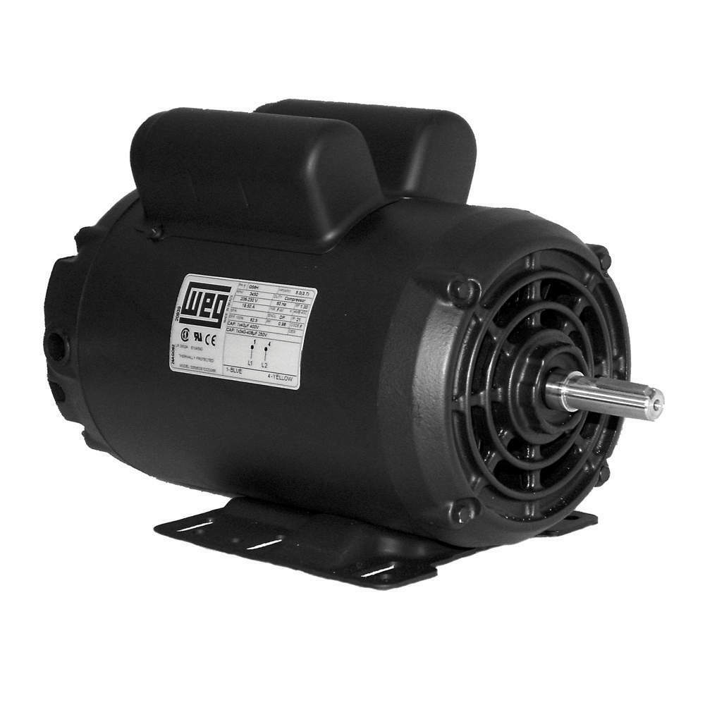 5 Hp Compressor Motor Electric 56 Replacement For Leeson 111275 Single Phase
