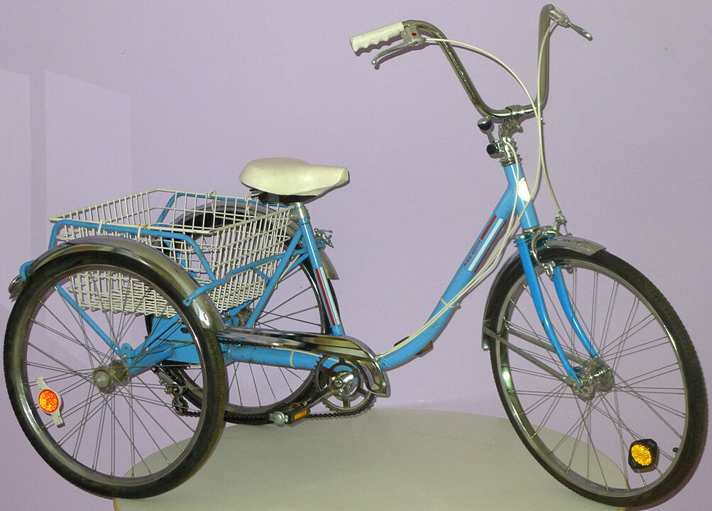 TED WILLIAMS SEARS ADULT TRICYCLE VINTAGE BICYCLE w/ 3-SPEED SHIFTER KNOB