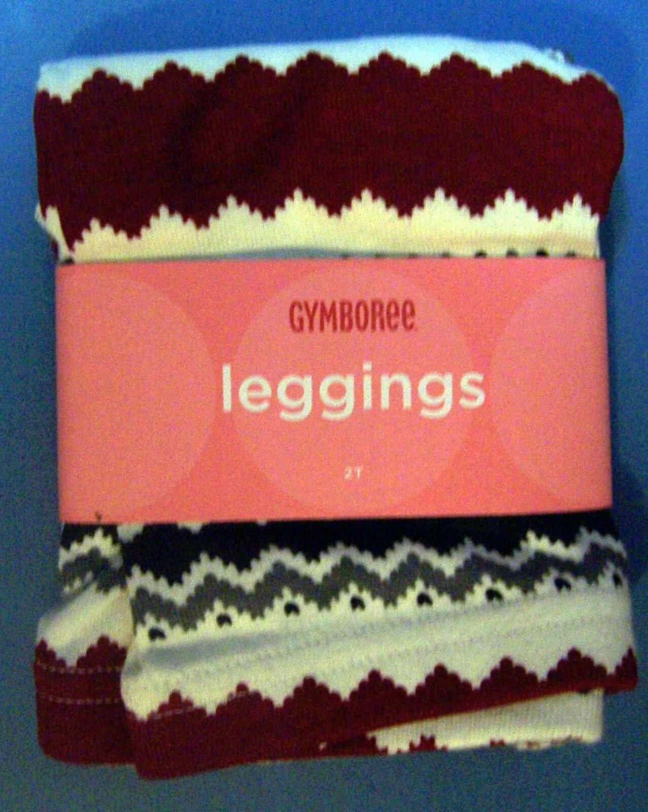 NWT GYMBOREE PENGUIN CHALET RED GRAY BLACK ZIGZAG LEGGINGS 2T   Free US Shipping