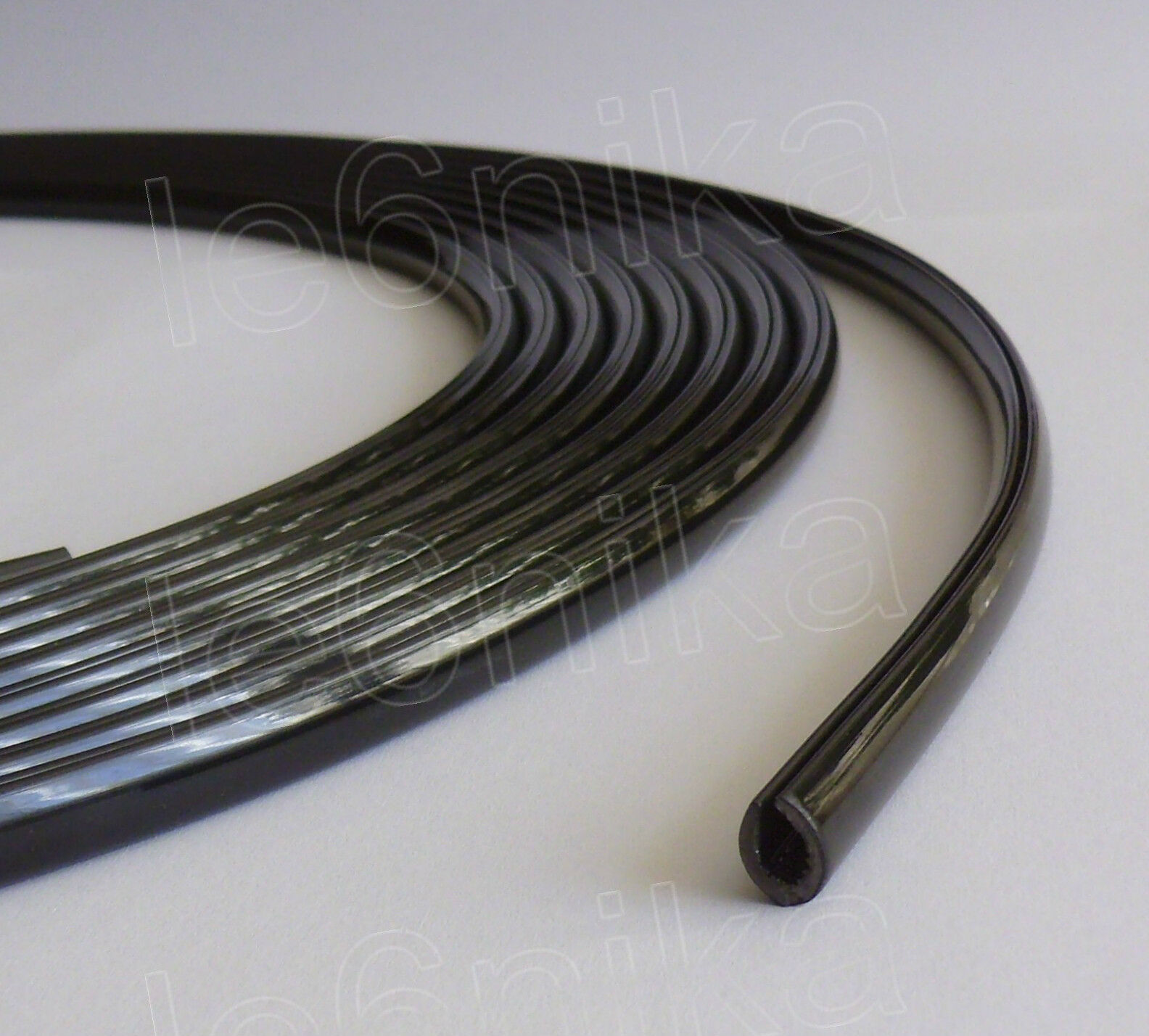 10m black moulding trim car door edge guard strip for Door edge trim
