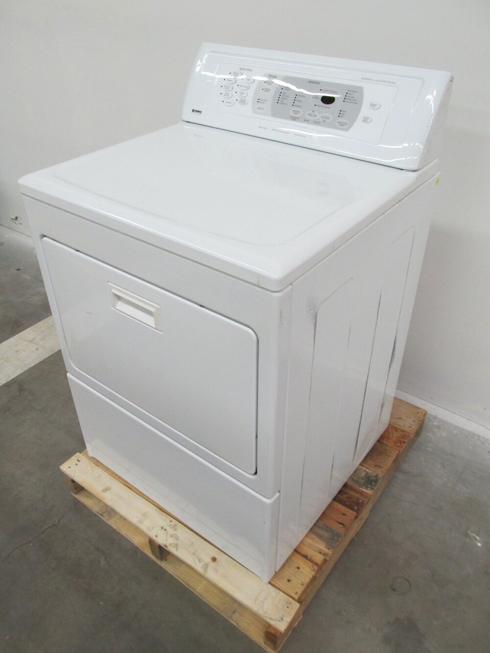 Kenmore Elite 26 Inch White Front Load 9 Cycle Gas Dryer
