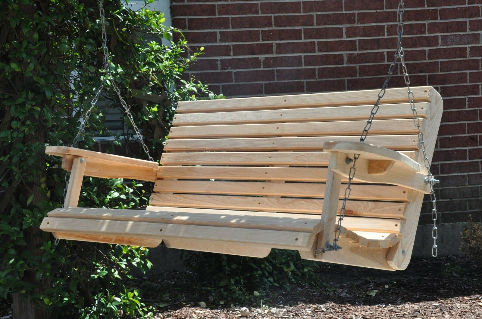 4 ft cypress porch swing wood wooden outdoor furniture